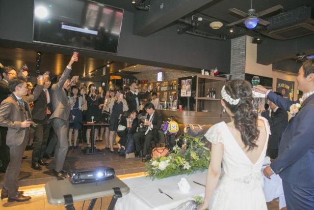 東京銀座で海外挙式後の二次会